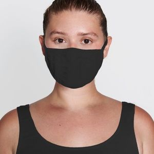 SKIMS Seamless Face Mask in Onyx